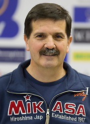 Statistic Mitja Torkar at press conference of volleyball club ACH Volley before new season 2010/2011, on November 5, 2010, in Ljubljana, Slovenia. (Photo by Vid Ponikvar / Sportida)