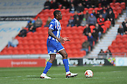 Wigan Athetics no4 Donervon Daniels during the Sky Bet League 1 match between Doncaster Rovers and Wigan Athletic at the Keepmoat Stadium, Doncaster, England on 16 April 2016. Photo by Stephen Connor.