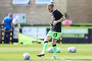 Forest Green Rovers Joseph Mills(23) warming up during the EFL Sky Bet League 2 match between Forest Green Rovers and Cambridge United at the New Lawn, Forest Green, United Kingdom on 22 April 2019.