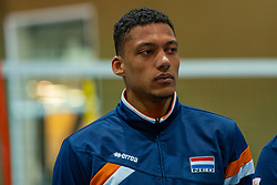07-05-2019 NED: Press moment national volleyball team Men, Arnhem<br /> Roberto Piazza, the new national coach of the Dutch men's team, gives an overview of the group matches of the Golden European League, the OKT and the European Championship played in their own country / Fabian Plak