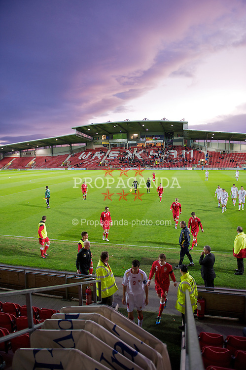 WREXHAM, WALES - Saturday, October 8, 2011: Wales take on Montenegro during the UEFA Under-21 Championship Qualifying Group 3 match at the Racecourse Ground. (Pic by David Rawcliffe/Propaganda)