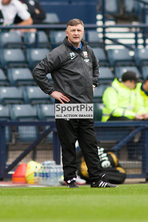 Montrose manager Paul Haggarty in the Queen's Park v Montrose SPFL2 at Hampden Park on 03 October 2015<br />(c) Russell G Sneddon / SportPix.org.uk