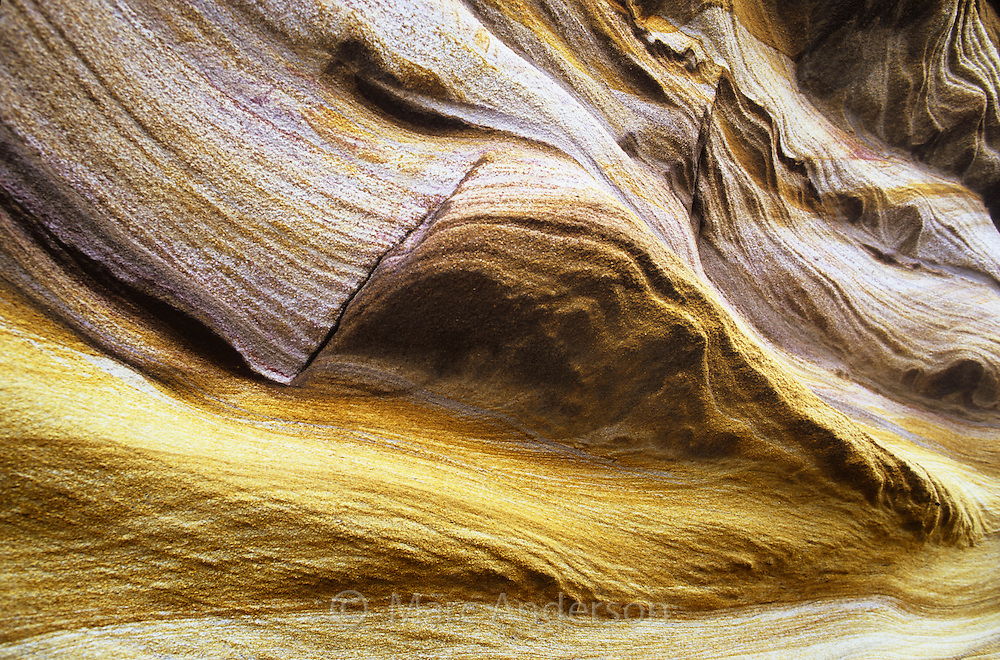 Layers of sandstone, Royal National Park, Australia.