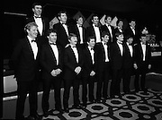 "Bank Of Ireland GAA Hurling Allstars..1986..31.01.1986..01.31.1986..31st January 1986..To celebrate their achievements on the field of hurling the following players were recognised by the GAA and Bank of Ireland:.Pat Delaney,Offaly.Seamus Coen, Galway.Sylvie Linnane,Galway.Ger Coughlan,Offaly.Liam Fennelly,Kilkenny.Nicholas English,Tipperary.John Fenton,Cork.Pat Cleary,Offaly.Ger Cunningham,Cork.Padraig Horan,Offaly.Joe Cooney,Galway.Brendan Lynsky,Galway.Eugene Coughlan,Offaly.Pat Critchly,Laois.Peter Finnerty,Offaly...Inducted into the Hall of Fame were Tim Landers and John Joe Landers for football and Frank O'Rourke for hurling.The award ceremony was held at The Burlington Hotel,Dublin...Photograph of the ""Allstars"" as the line up for the media..L-R front row:.Pat Delaney,Offaly.Seamus Coen, Galway.Sylvie Linnane,Galway.Ger Coughlan,Offaly.Liam Fennelly,Kilkenny.Nicholas English,Tipperary.John Fenton,Cork.Pat Cleary,Offaly.L-R back row:.Ger Cunningham,Cork.Padraig Horan,Offaly.Joe Cooney,Galway.Brendan Lynsky,Galway.Eugene Coughlan,Offaly.Pat Critchly,Laois.Peter Finnerty,Offaly.."
