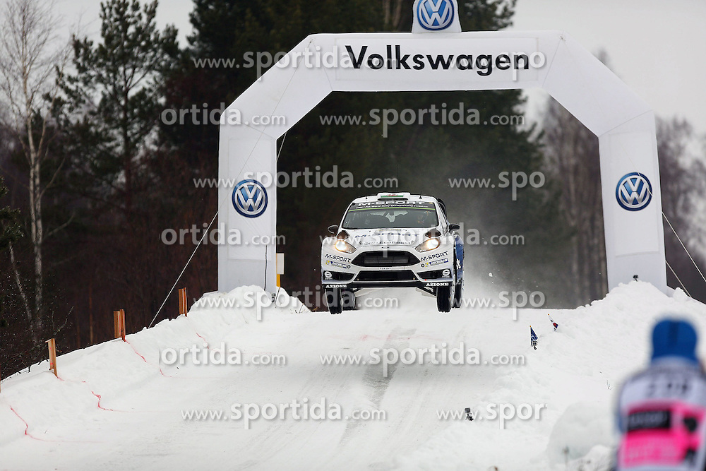 13.02.2015, Karlstad, Karlstad, SWE, FIA, WRC, Schweden Rallye, im Bild Elfyn Evans/Daniel Barritt (M-Sport WRT/Ford Fiesta RS WRC) // during the WRC Sweden Rallye at the Raga in Karlstad in Karlstad, Sweden on 2015/02/13. EXPA Pictures &copy; 2015, PhotoCredit: EXPA/ Eibner-Pressefoto/ Bermel<br /> <br /> *****ATTENTION - OUT of GER*****