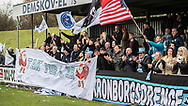 FC Helsingør fans jubler efter kampen i 2. Division mellem Boldklubben Avarta og FC Helsingør den 10. november 2019 i Espelunden (Foto: Claus Birch).