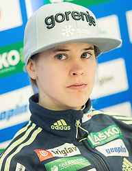 Ursa Bogataj during press conference of Slovenian Ski jumping Women team before new season 2015/16, on December 1, 2015 in Cristal palace, BTC, Ljubljana, Slovenia. Photo by Vid Ponikvar / Sportida