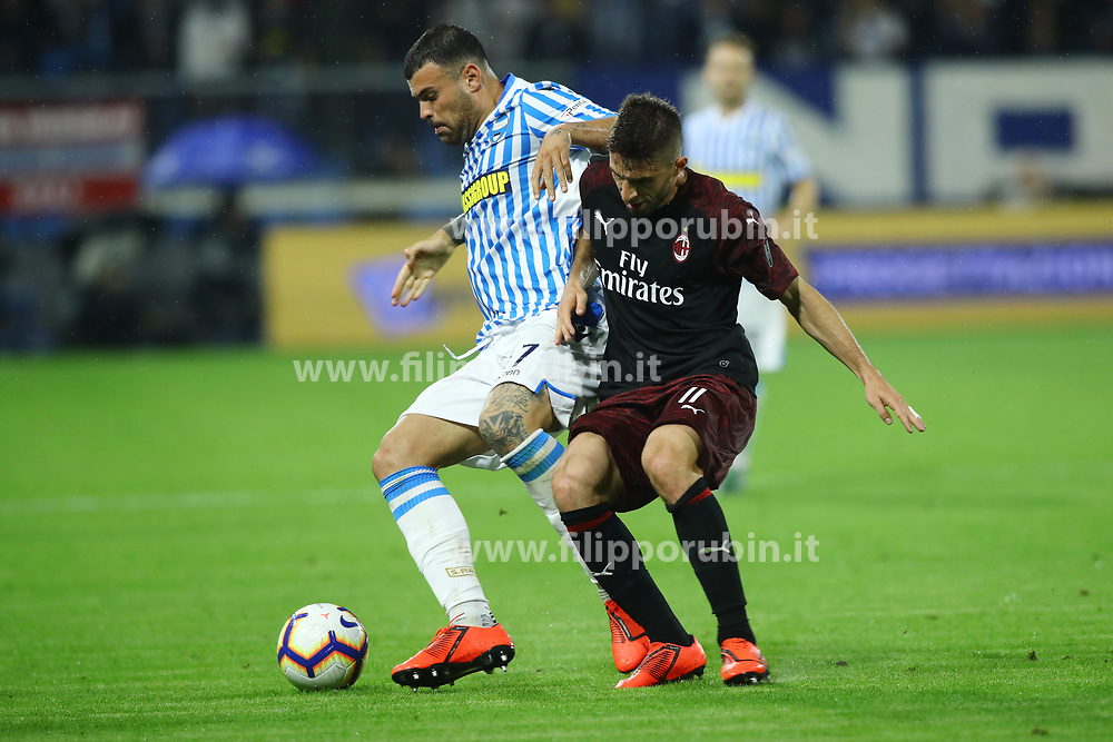 "Foto LaPresse/Filippo Rubin<br /> 26/05/2019 Ferrara (Italia)<br /> Sport Spal - Milan - Campionato di calcio Serie A 2018/2019 - Stadio ""Paolo Mazza""<br /> Nella foto: ANDREA PETAGNA (SPAL)<br /> <br /> Photo LaPresse/Filippo Rubin<br /> May 26, 2019 Ferrara (Italy)<br /> Sport Soccer<br /> Spal vs Milan - Italian Football Championship League A 2018/2019 - ""Paolo Mazza"" Stadium <br /> In the pic: ANDREA PETAGNA (SPAL)"