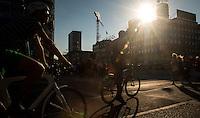 Copenhagen, Denmark- JULY 23, 2014: Bikes: an ever present sight in downtown Copenhagen. CREDIT: Chris Carmichael for The New York Times