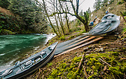 The long ramps used for steelhead fishing boats make the process fast.