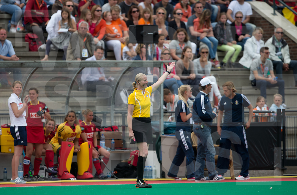 Hockey Womens World league Semi Finals Rotterdam 2013<br /> New Zealand V Belgium 16062013<br /> Umpire Stella Bartlema<br /> <br /> Photo: Grant Treeby / treebyimages