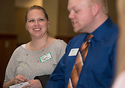 Sarah Davis and Andrew Helms during the Ohio Gurantee Event in Walter Hall Rotunda on Oct. 7, 2014. Photo by Lauren