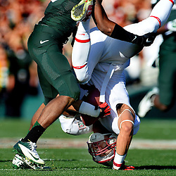 Stanford wide receiver Michael Rector catches a 43 yard pass play for a first down against Michigan State in the first half of the 100th Rose bowl game in Pasadena, Calif., on Wednesday, Jan.1, 2014.