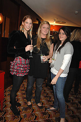 Left to right, LADY GABRIELLA WINDSOR, LILLY BALFOUR amd ALICE DEEN at an exhibition of photographs by Olivia Buckingham held at China Tang, The Dorchester, Park Lane London on 5th March 2007.<br /><br />NON EXCLUSIVE - WORLD RIGHTS