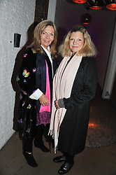 Left to right, ADRIENNE COOK and JO MILLER at a party to celebrate the Kelly Hoppen and Smallbone kitchen range held at The Collection, 264 Brompton Road, London on 24th September 2012.