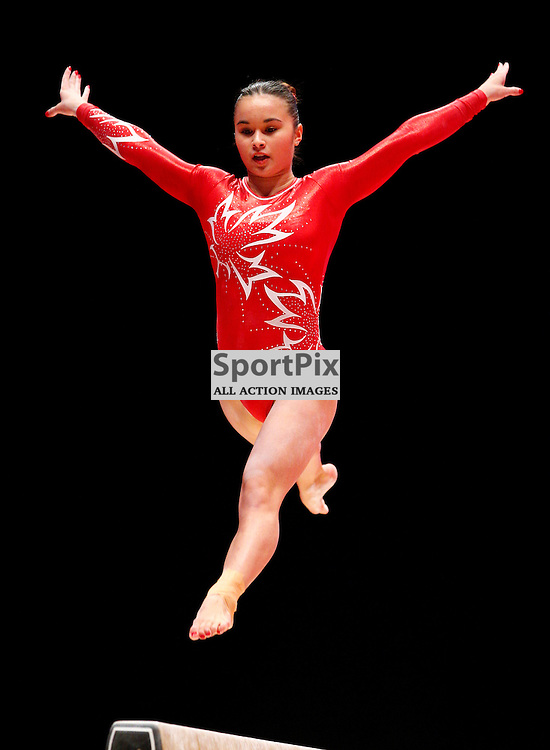 2015 Artistic Gymnastics World Championships being held in Glasgow from 23rd October to 1st November 2015...Victoria Kayen Woo (Canada) competing in the Balance Beam competition...(c) STEPHEN LAWSON | SportPix.org.uk
