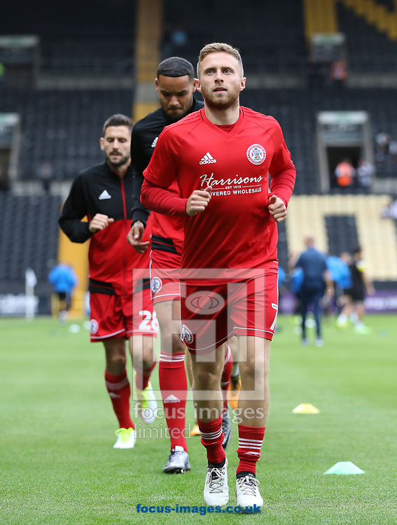 Jordan Clark of Accrington Stanley warms up before the Sky Bet League 2 match at Meadow Lane, Nottingham<br /> Picture by James Wilson/Focus Images Ltd 07522 978714‬‬<br /> 25/08/2017