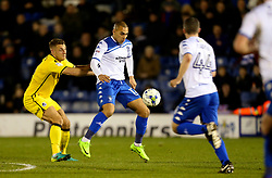 James Vaughan of Bury is closed down by Lee Brown of Bristol Rovers- Mandatory by-line: Matt McNulty/JMP - 14/03/2017 - FOOTBALL - Gigg Lane - Bury, England - Bury v Bristol Rovers - Sky Bet League One