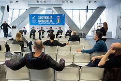 Press conference of Slovenian Men Tennis Team for Davis Cup Romania vs Slovenia competition, on February 24, 2016 in Kristalna palaca, Ljubljana, Slovenia. Photo by Vid Ponikvar / Sportida