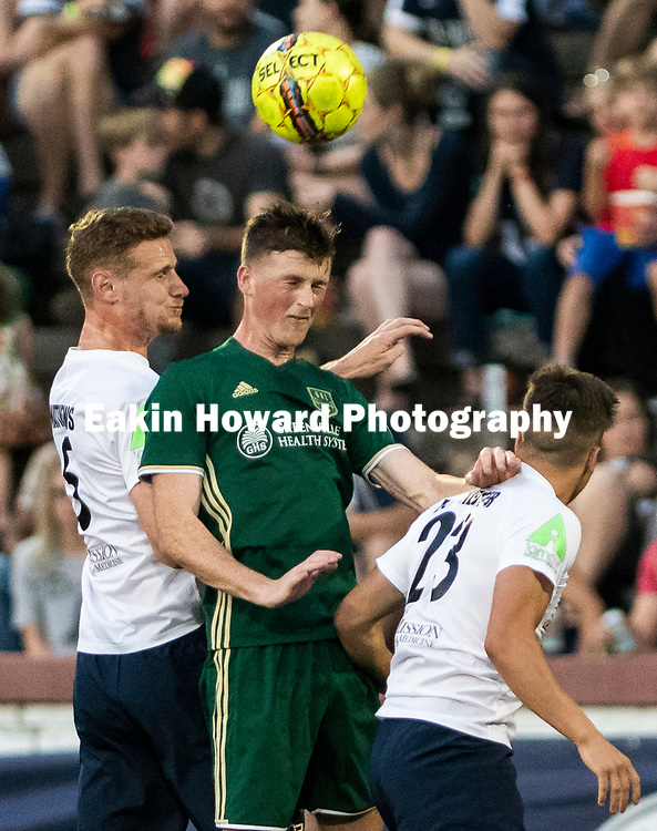 The Men's Asheville City Soccer Club lost to Greenville Football Club 1-0  in Memorial Stadium in Asheville, NC on June 23, 2018.