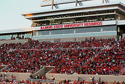 21 September 2013:  New east side grandstands at Hancock Stadium during an NCAA football game between the Abilene Christian Wildcats and the Illinois State Redbirds at Hancock Stadium in Normal IL