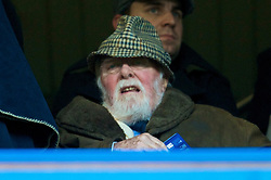 LONDON, ENGLAND - Saturday, December 12, 2009:  Sir Richard Attenborough watches Chelsea take on Everton during the Premiership match at Stamford Bridge. (Photo by David Rawcliffe/Propaganda)