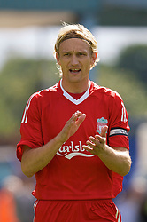 BIRKENHEAD, ENGLAND - Saturday, July 12, 2008: Liverpool's Sami Hyypia during his side's first pre-season match of the 2008/2009 season against Tranmere Rovers at Prenton Park. (Photo by David Rawcliffe/Propaganda)
