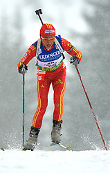 Xianying Liu (CHN) at Women 15 km Individual at E.ON Ruhrgas IBU World Cup Biathlon in Hochfilzen (replacement Pokljuka), on December 18, 2008, in Hochfilzen, Austria. (Photo by Vid Ponikvar / Sportida)