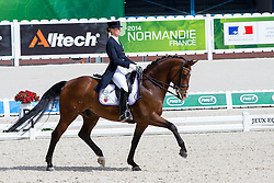 Veronique Henschen, (LUX), Fontalero - Grand Prix Team Competition Dressage - Alltech FEI World Equestrian Games™ 2014 - Normandy, France.<br /> © Hippo Foto Team - Leanjo de Koster<br /> 25/06/14