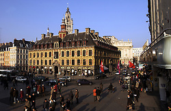 LILLE , FRANCE - FEB-22-2003 - Lille , France has been named the 2004 European Capital of Culture. - Grand Place - ïVieille bourse' - former stock exchange - 17th Century - Traditional - Historic buildings. (PHOTO © JOCK FISTICK)...