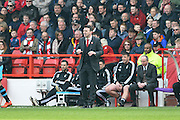 Nottingham Forest manager Dougie Freedman during the Sky Bet Championship match between Nottingham Forest and Sheffield Wednesday at the City Ground, Nottingham, England on 12 March 2016. Photo by Jon Hobley.