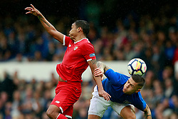 Luis Muriel of Sevilla challenges Mohamed Besic of Everton - Mandatory by-line: Matt McNulty/JMP - 06/08/2017 - FOOTBALL - Goodison Park - Liverpool, England - Everton v Sevilla - Pre-season friendly