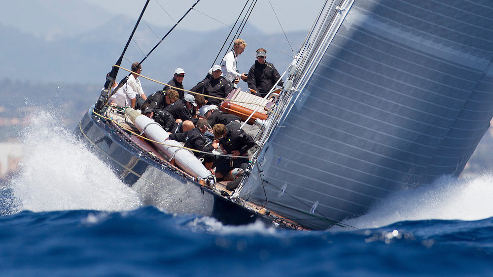 SPAIN, Palma. 19th June 2013. Superyacht Cup. J Class. Race One. Hanuman.