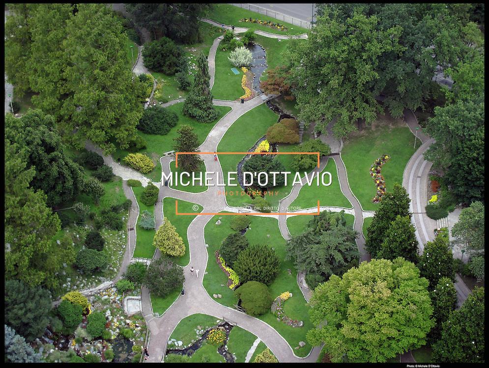 Torino, il Giardino Roccioso del Parco del Valentino Il Po dei Re - Parco Fluviale del Po
