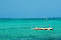 Tanzanie, archipel de Zanzibar, île de Unguja (Zanzibar), pecheur a Jambiani  // Tanzania, Zanzibar island, Unguja, fisher at Jambiani