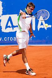Tommy Robredo of Espana during a tennis match against the Marin Cilic of Croatia in semi-final of singles at 25th Vegeta Croatia Open Umag, on July 27, 2014, in Stella Maris, Umag, Croatia. Photo by Urban Urbanc / Sportida
