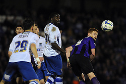 Bristol Rovers' Matt Harrold heads the ball towards goal - Photo mandatory by-line: Dougie Allward/JMP - Mobile: 07966 386802 01/04/2014 - SPORT - FOOTBALL - Bury - Gigg Lane - Bury v Bristol Rovers - Sky Bet League Two