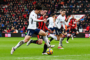 Heung-Min Son (7) of Tottenham Hotspur on the attack with Lewis Cook (16) of AFC Bournemouth challenging him during the Premier League match between Bournemouth and Tottenham Hotspur at the Vitality Stadium, Bournemouth, England on 11 March 2018. Picture by Graham Hunt.