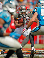 TAMPA, FL - OCTOBER 4: Running Back Charles Sims #34 of the Tampa Bay Buccaneers during the game against the Carolina Panthers at Raymond James Stadium on October 4, 2015, in Tampa, Florida. The Buccaneers lost 37-23. (photo by Mike Carlson/Tampa Bay Buccaneers)