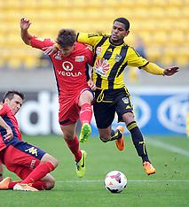 Wellington-Football, A-League, Phoenix v Adelaide United, March 30