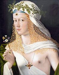Idealized Portrait of a Lady painting at Stadel art museum or Städelsches Kunstinstitut und Städtische Galerie in Frankfurt