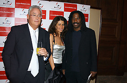 Left to right, MARK & NATHALIE PARIS and JIMMY ADJOVI-BOCO at a dinner hosted by footballer Patrick Vieira and the Diambars UK Charital Trust at The Landmark Hotel, 222 Marylebone Road, London NW1 on 3rd February 2005.<br /><br />NON EXCLUSIVE - WORLD RIGHTS