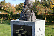 The World War One Sikh Memorial at the National Memorial Arboretum, Croxall Road, Alrewas, Burton-On-Trent,  Staffordshire, on 29 October 2018. Picture by Mick Haynes.