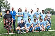 DRC Durgerdam. All Stars voetbaltoernooi. Op de foto: de cast
