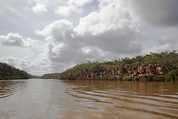 Wet season clouds over the Sale River on the Kimberley coast.