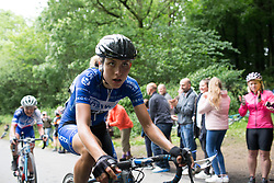 \alima of Lensworld Zannata Cycling Team rides up Ault Hucknall Lane during Stage 4 of the OVO Energy Women's Tour - a 123 km road race, starting and finishing in Chesterfield on June 10, 2017, in Derbyshire, United Kingdom. (Photo by Balint Hamvas/Velofocus.com)
