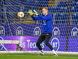 CARDIFF, WALES - Monday, November 18, 2019: Hungary's goalkeeper Péter Gulácsi during a training session at the Cardiff City Stadium ahead of the final UEFA Euro 2020 Qualifying Group E match between Wales and Hungary. (Pic by David Rawcliffe/Propaganda)