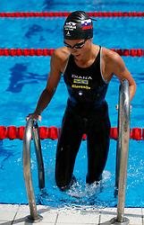 Ursa Bezan  at swimming competition of EYOF 2007 (European Youth Olympic Festival) in Belgrade, 21. - 28. July 2007,  Tasmajdan pool, Belgrade, Serbia. (Photo by Vid Ponikvar / Sportida)