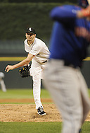 CHICAGO - JUNE 25:  Chris Sale #49 of Chicago White Sox pitches against the New York Mets on June 25, 2013 at U.S. Cellular Field in Chicago, Illinois.  The White Sox defeated the Mets 5-4.  (Photo by Ron Vesely)    Subject:  Chris Sale