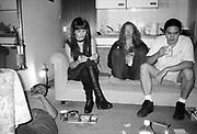 Gavin, Lesley and Friends in Gavin's Flat, London. 1990s.